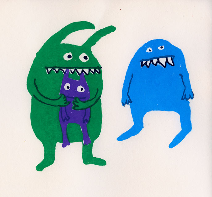 Monsters screenprint