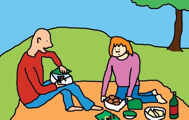 Kittenarian at picnic