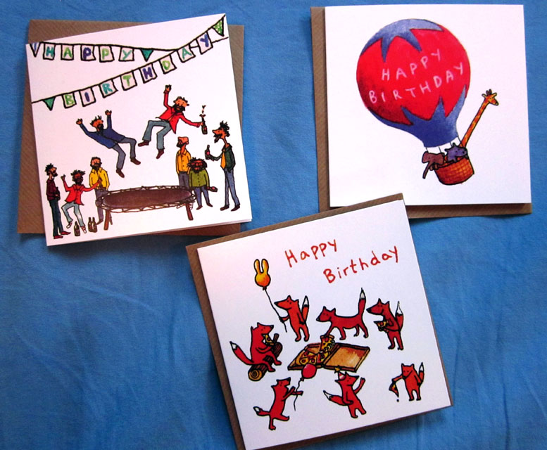 New birthday cards for Earlybird in 2012