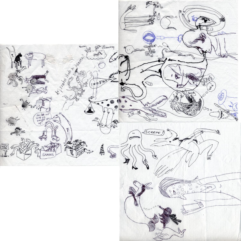 Napkin drawing by Becky, Elena, Caroline, Daisy