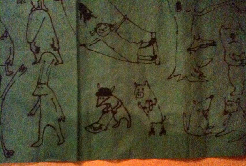 Napkin drawn in Paris