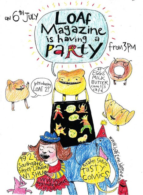 LOAf launch party poster