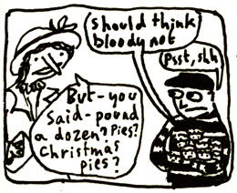 4th panel of advent comic