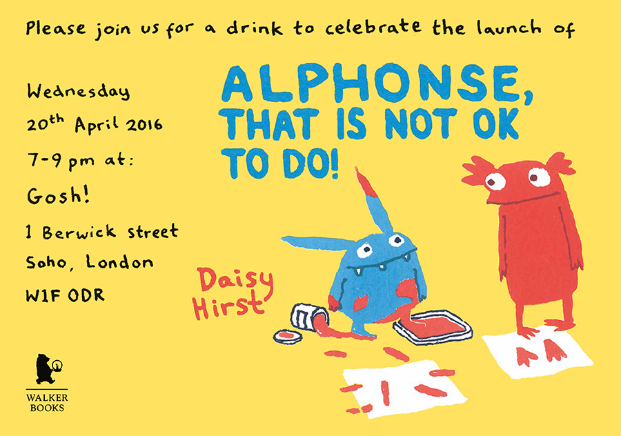 Alphonse launch party invite