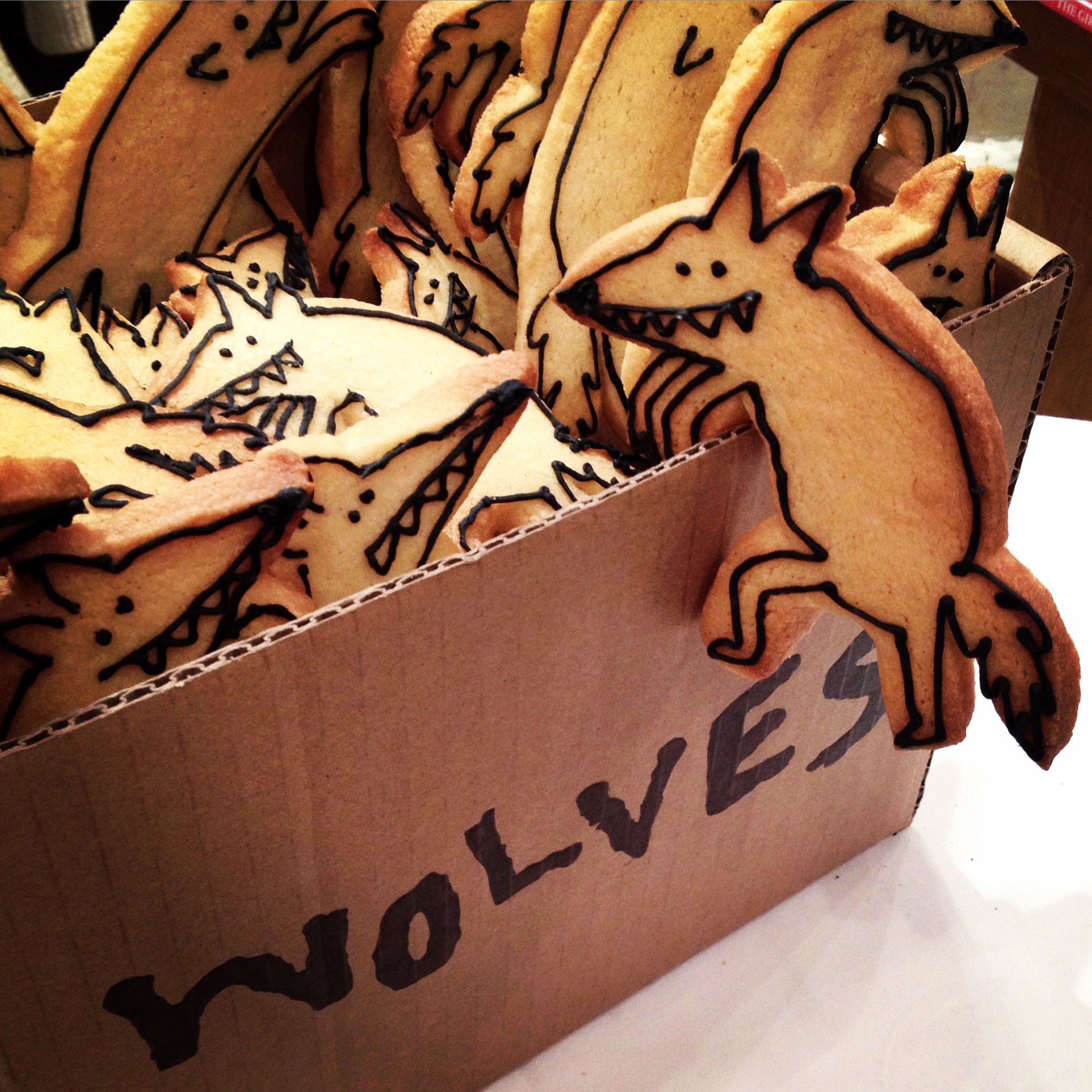 Wolf biscuits by Love & Cake