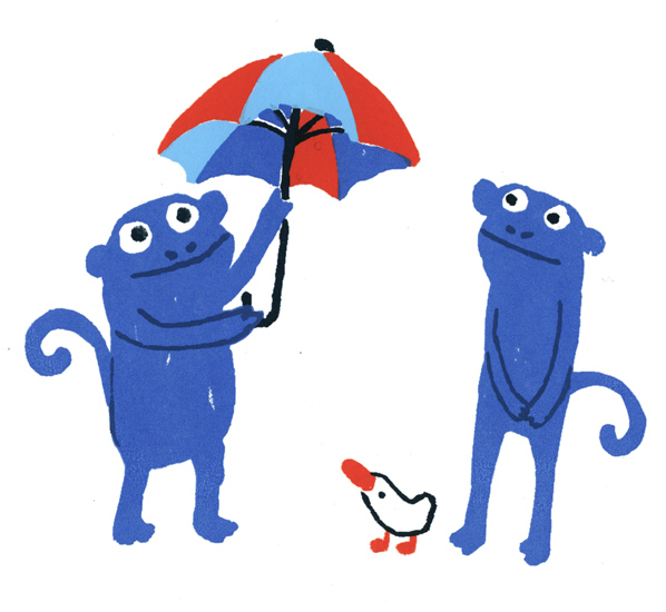 Monkeys umbrella