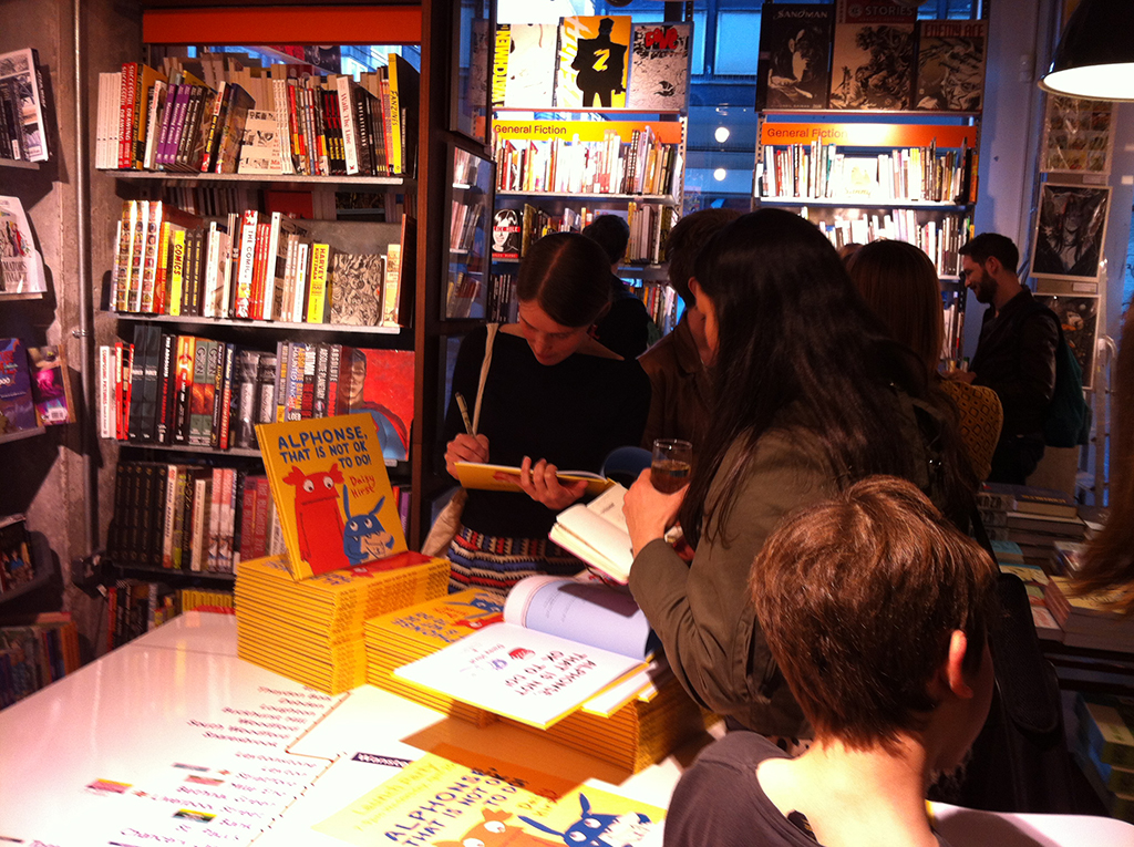Daisy signing at Alphonse launch