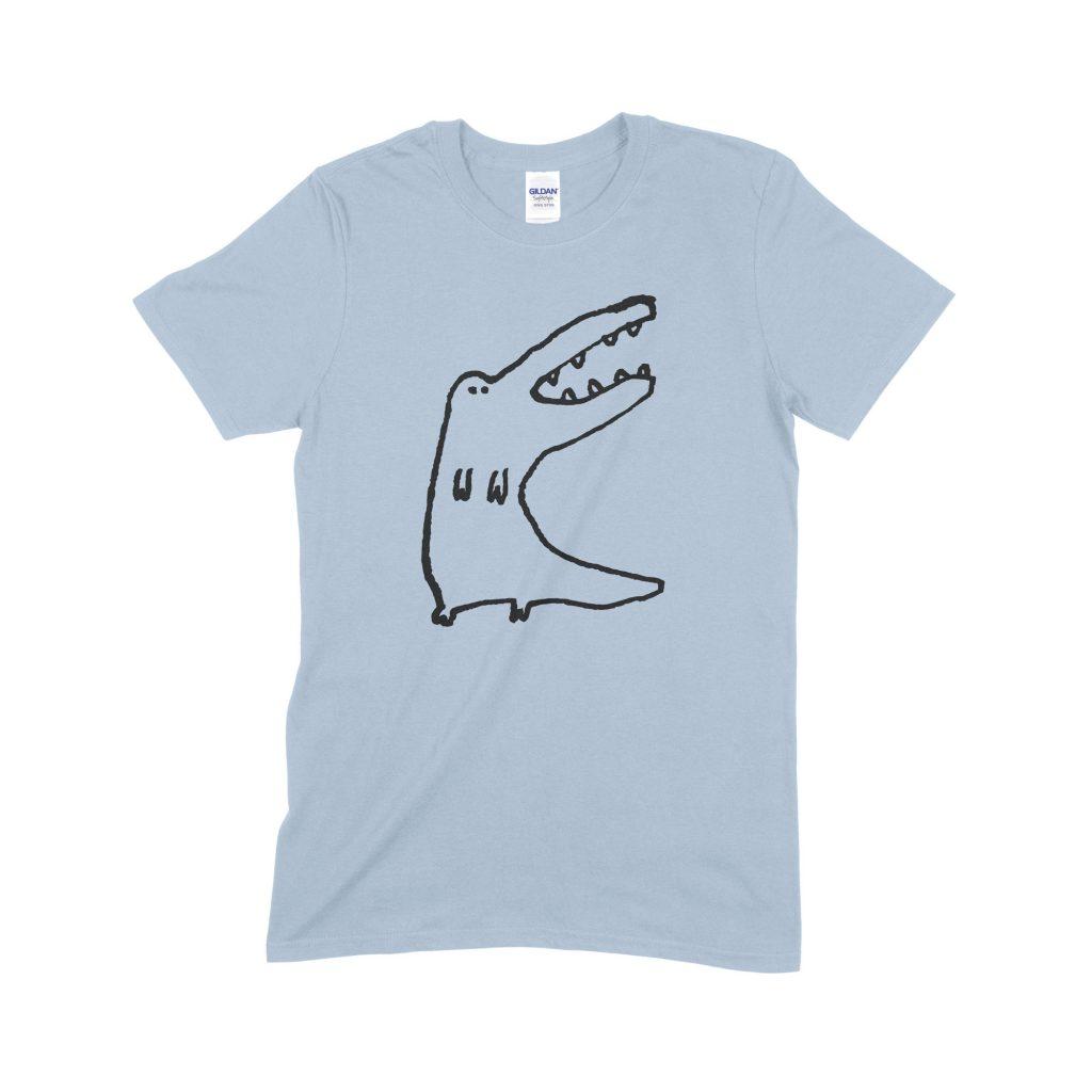 Standing Croc blue T-shirt