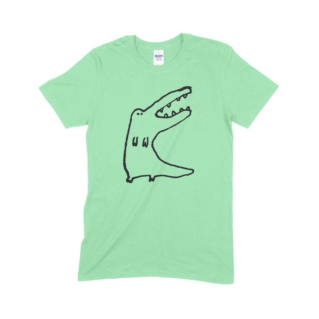 Standing Croc green T-shirt