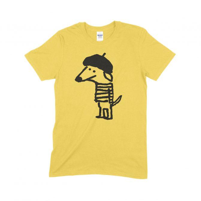 Beret Dog yellow T-shirt